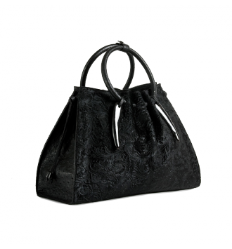 The 1306 Bag in Embossed Hair on Calf & Ostrich