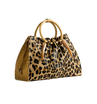 The 1306 Bag in Printed Hair on Calf & Ostrich