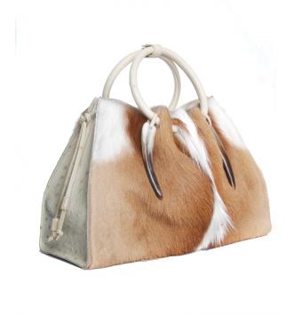 The 1306 Bag in Springbok & Ostrich