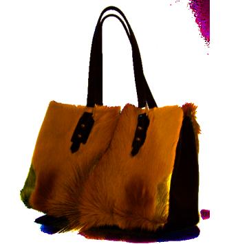 The Loretta Bag in Springbok Hide & Leather